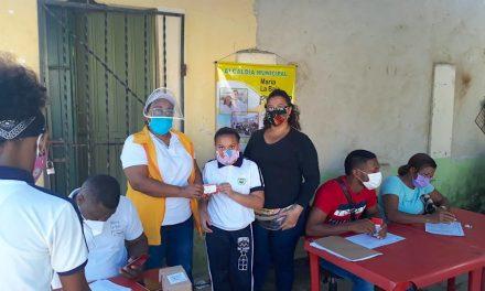 500 estudiantes de la Institución Técnica Agropecuaria de Desarrollo Rural en María La Baja, recibieron Sim Card para fortalecer clases no presenciales