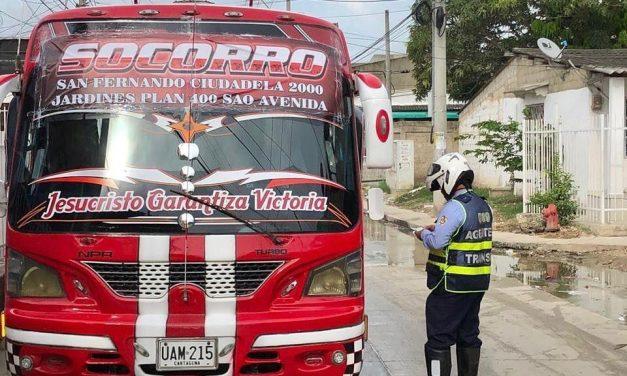 Conozca las 17 rutas legales de los buses en Cartagena