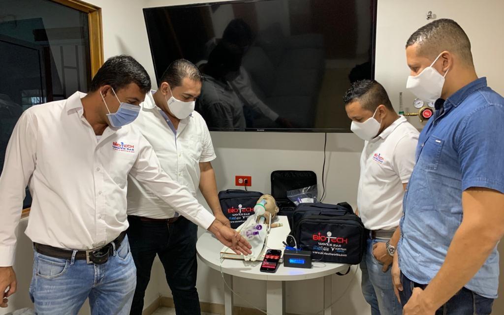 Desarrollan primer ventilador mecánico desechable en Cartagena