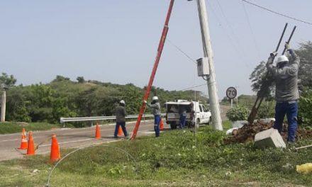 Suspensión de servicio de luz en Bayunca por mejoras en la red de distribución
