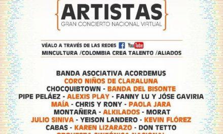 Gran concierto nacional virtual 'Colombia Crea Talento'