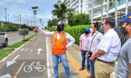 Distrito de Cartagena realiza recorrido de inspección en la Vía Perimetral y Viaducto del Gran Manglar