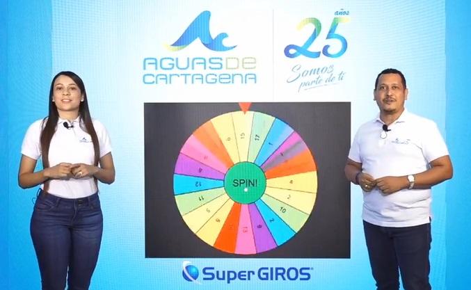 Aguas de Cartagena sorteó 20 bonos de mercados a los usuarios que se encuentran al día con pagos