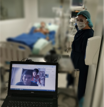 Pacientes hospitalizados con Coronavirus de Magangué reciben visitas virtuales de sus familiares
