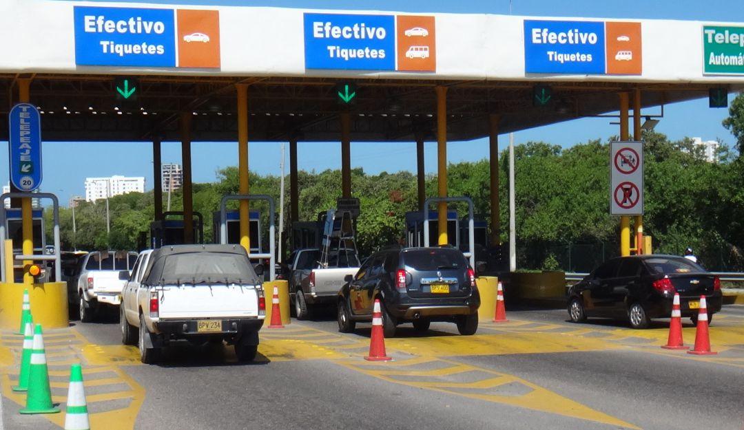 Demoras en control excepcional de los peajes internos de Cartagena