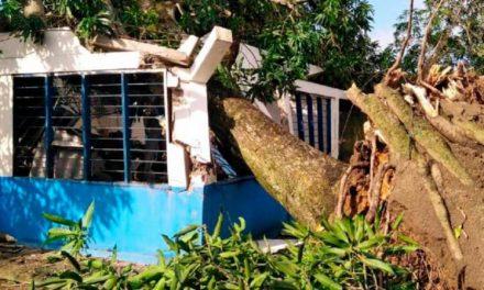 Municipio de Barranco de Loba azotado por fuerte vendaval
