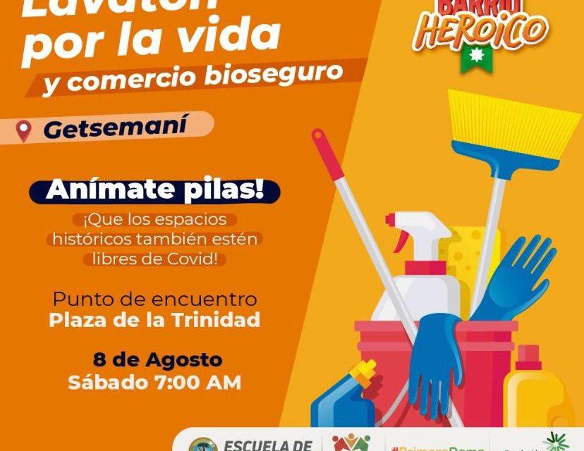 La Cámara de Comercio de Cartagena presente en la gran 'Lavatón por la Vida y Comercio Bioseguro'