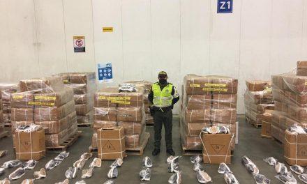 Más de 1.500 millones de pesos en calzado de contrabando fueron incautados en Cartagena