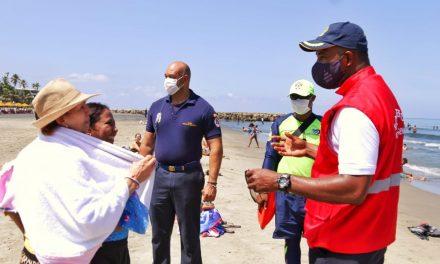 El Comandante Operativo del Cuerpo de Salvavidas socializó medidas de seguridad en las playas pilotos
