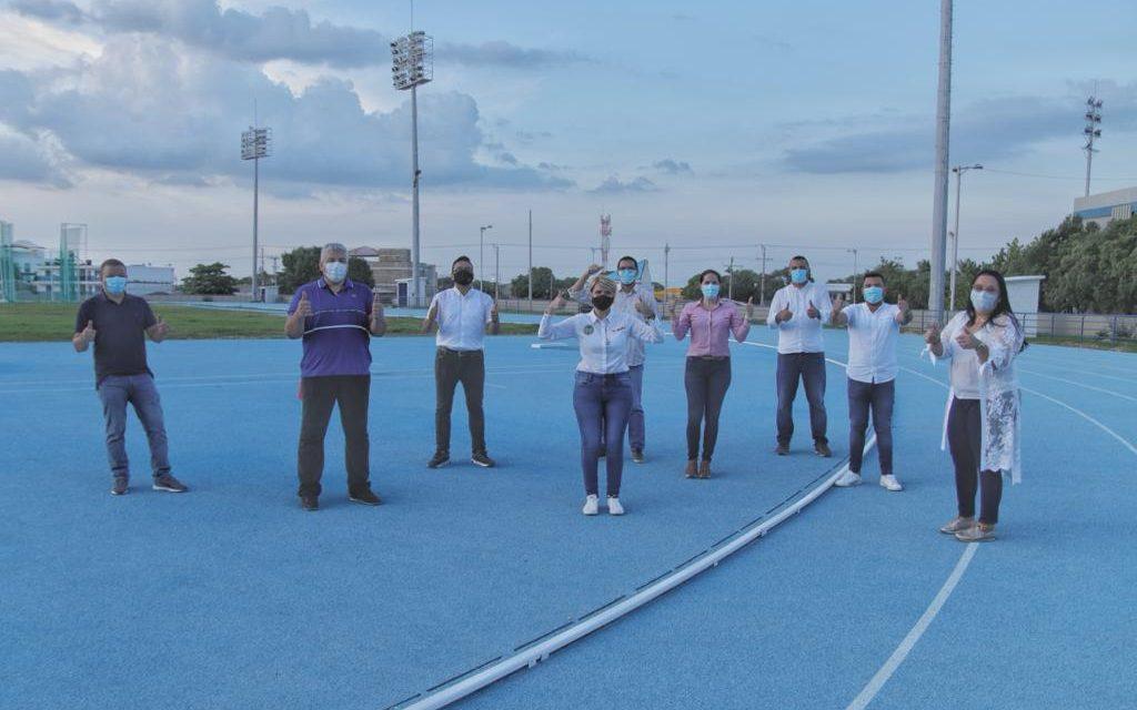 concejales visitan escenarios deportivos por invitación del IDER