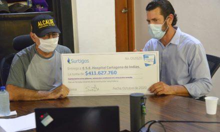 Surtigas dona $411.627.760 millones a la red hospitalaría ESE Cartagena