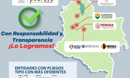 'Bolívar Primero' entre las mejores Entidades en cumplir con la garantía de pluralidad de oferentes