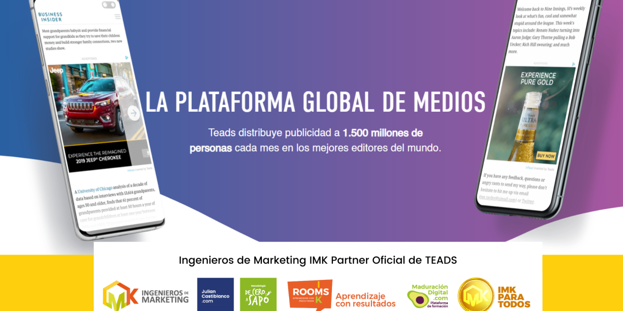 Ingenieros de Marketing IMK Partner Oficial de TEADS