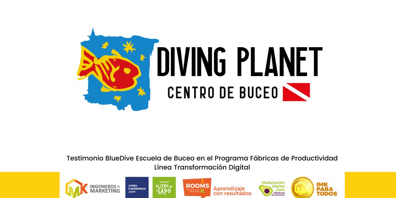 Testimonio BlueDive Escuela de Buceo en el Programa Fábricas de Productividad Línea Transformación Digital