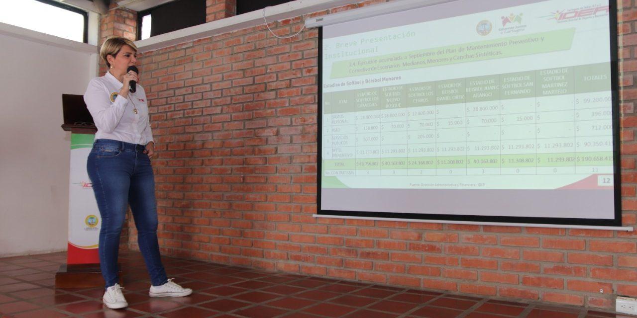 Directora del IDER presenta positivo balance general de la entidad