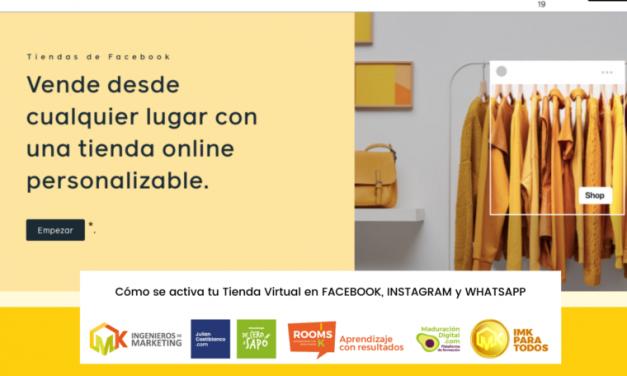 Cómo activar mi tienda virtual en Facebook, Instagram y Whatsapp