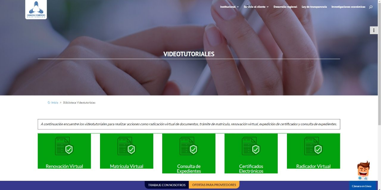 Cámara de Comercio habilita servicios registrales de manera virtual