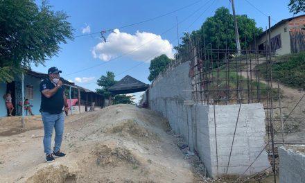 Avanza construcción de muro de contención en Bellavista