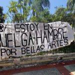 Hombre duró 8 días en huelga de hambre exigiendo la reparación de la Facultad de Bellas Artes