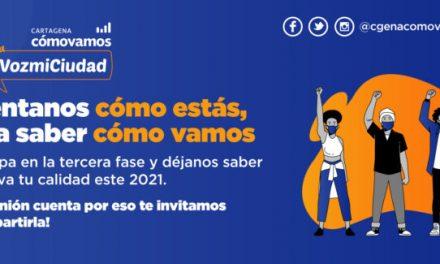 La encuesta #miVozmiCiudad del programa Cartagena Cómo Vamos llega a su tercera fase