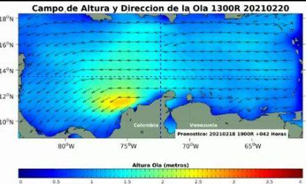 Se reporta incremento en la intensidad del viento y aumento en el oleaje en el Caribe colombiano