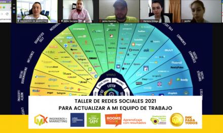 TALLER DE REDES SOCIALES 2021 PARA ACTUALIZAR A MI EQUIPO DE TRABAJO