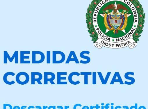 Medidas Correctivas de la Policía Nacional de Colombia