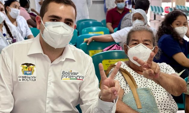 Vacuna numero dos millones contra el Covid-19 fue aplicada en Cartagena