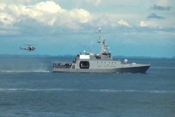 Armada de Colombia realiza ejercicio de soberanía en el Pacífico colombiano