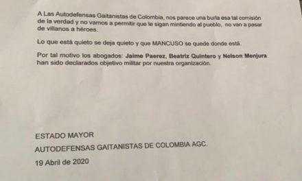 Abogados de Salvatore Mancuso amenazados de muerte por las Autodefensas Gaitanistas de Colombia