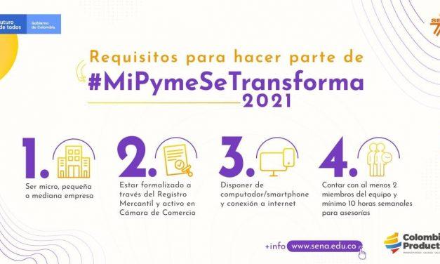 Hasta hoy es el plazo para inscribirse en la convocatoria 'MiPyme se transforma' del SENA