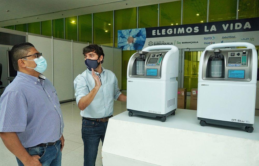 Empresas de servicio públicos donaron concentradores de oxígeno a la red hospitalaria de Barranquilla