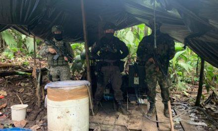 Fuerzas militares destruyeron laboratorio de cocaína que producía más de 10 millones de dosis