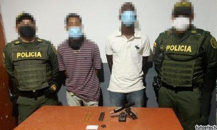 Dos capturados en Cartagena con un arma Pietro Beretta