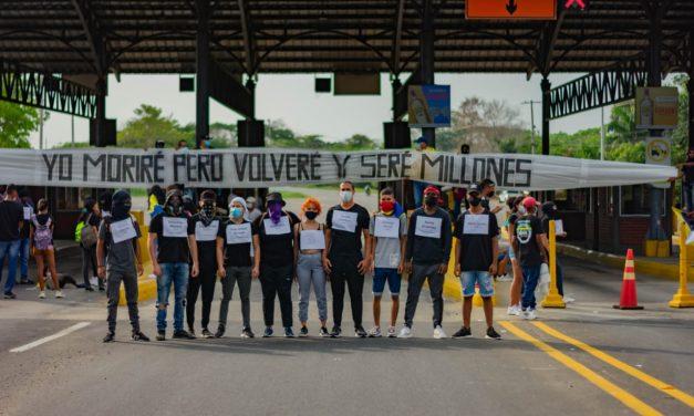 Habitantes de Turbaco lideran plantón artístico en honor a las víctimas que ha dejado el estallido social
