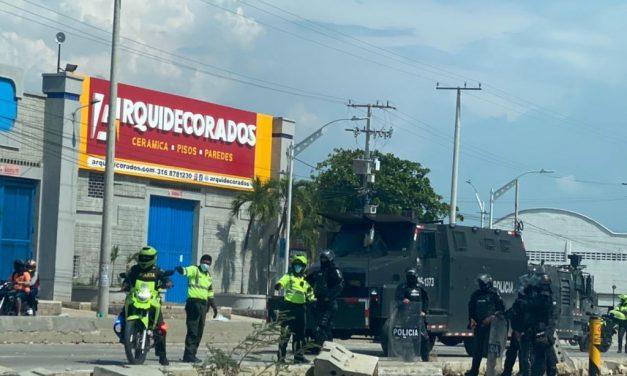 13 capturados durante los actos vandálicos en Barranquilla