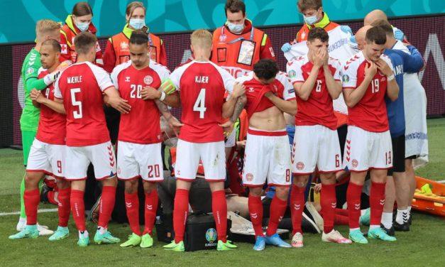 Christian Eriksen se desplomó durante el partido Dinamarca-Finlandia
