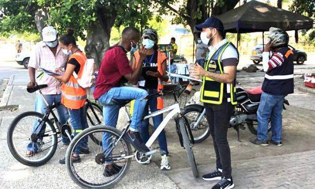 Realizan encuesta en Cartagena para identificar riesgos en el transporte activo