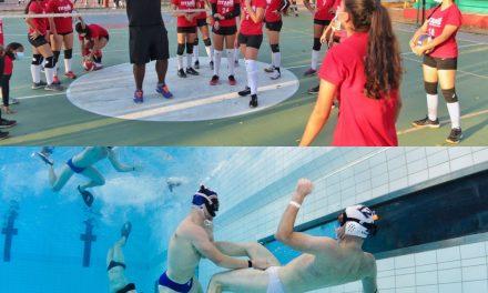 Comienza la I Copa Costa Caribe de Rugby Subacuático y el Volleyball Summer Camp 2021 en Cartagena