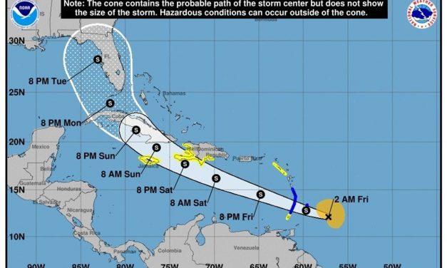¡Atención! Tormenta tropical Elsa se convirtió en un huracán categoría uno