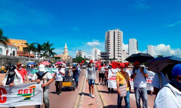 Paro Nacional: Agenda de movilizaciones en Cartagena este 20 de julio