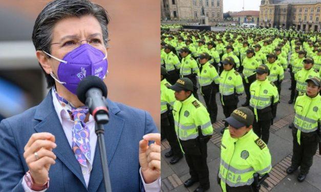 Claudia López pide refuerzos de policías para Bogotá