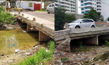 Inicia mantenimiento del puente Benjamín Herrera en Cartagena
