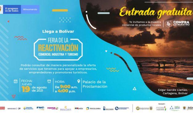 Llega a Bolívar la 'Feria de la Reactivación' del sector Comercio, Industria y Turismo