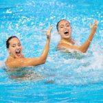 Las «sirenas colombianas» nadaron a ritmo de salsa en los juegos Olímpicos