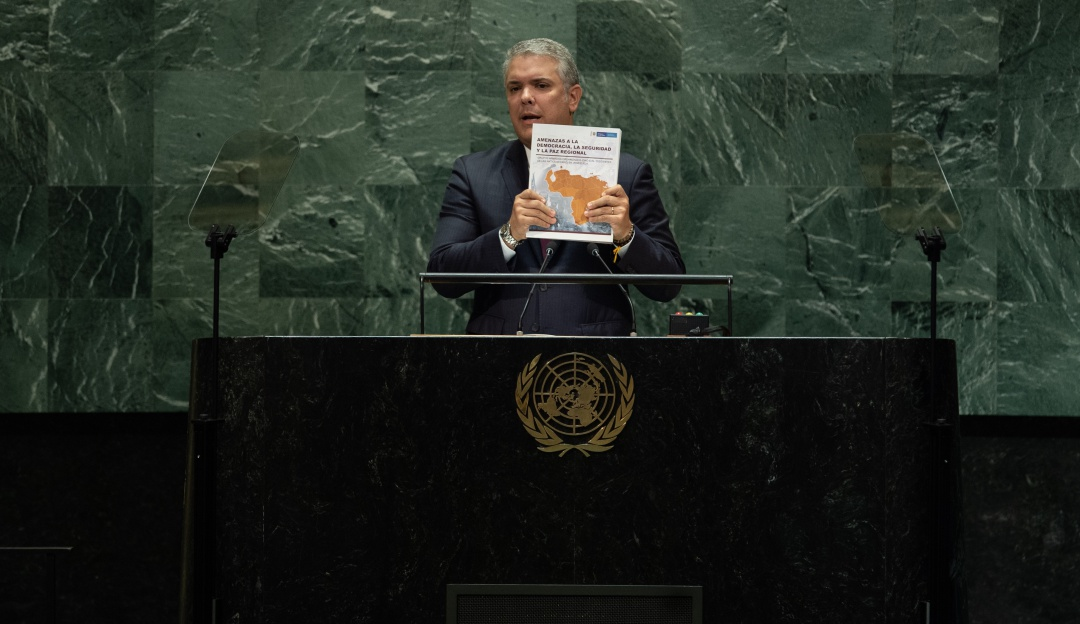 Ante la asamblea de la ONU, Duque calificó como 'frágil' los acuerdos firmados con las Farc en 2016