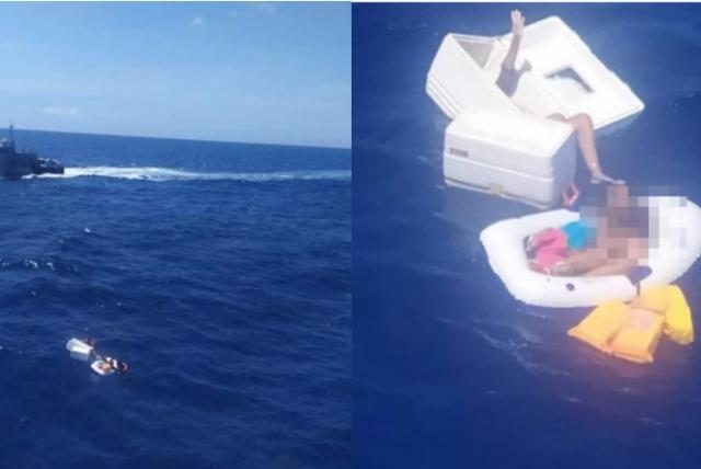 Rescatan a dos niños en altamar mientras se aferraban al cuerpo sin vida de su madre