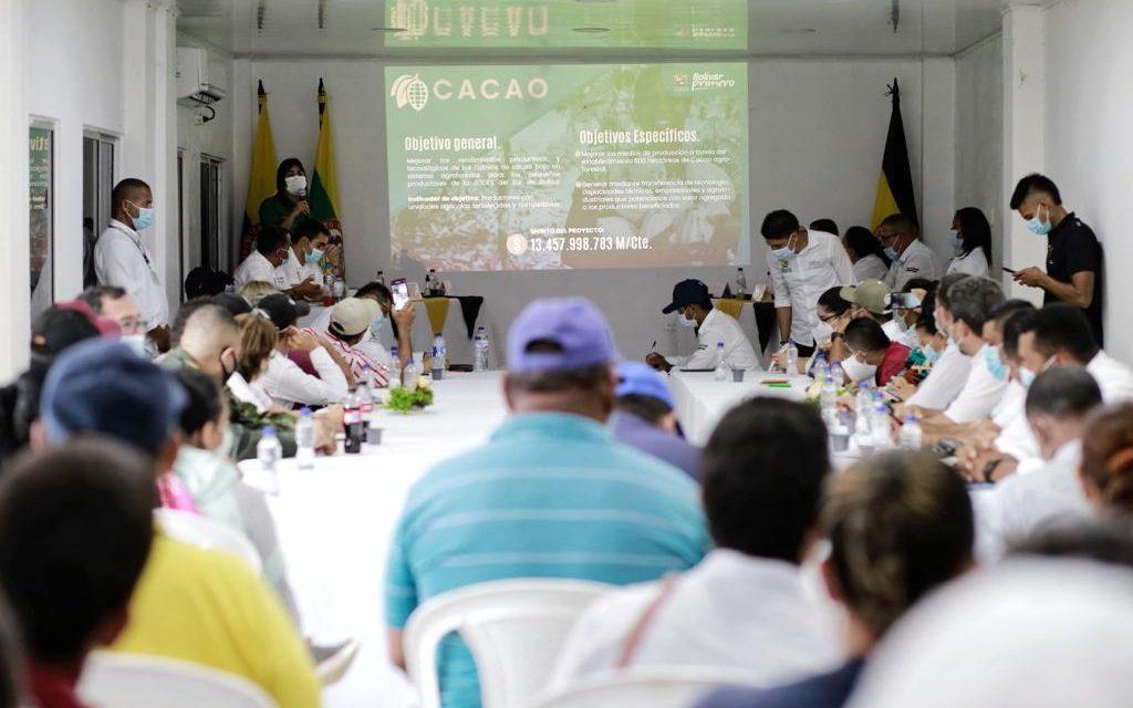 Gobernación de Bolívar continúa su agenda de proyectos, esta vez en San Pablo
