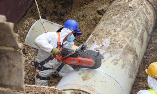 Lluvias afectan avance del mantenimiento en el acueducto