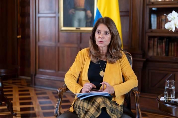 La vicepresidenta colombiana señaló que «campaña en redes sociales detonaron protestas»